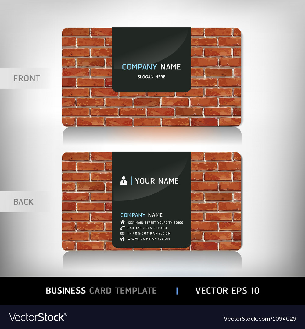 Red brick wall business card vector | Price: 1 Credit (USD $1)