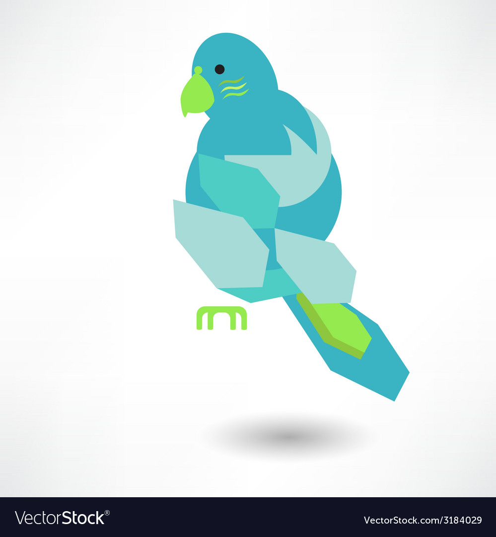 Stylish abstract bird of leaves icon vector | Price: 1 Credit (USD $1)