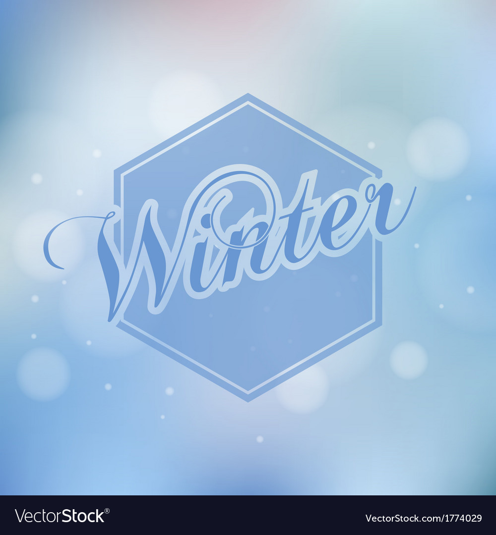 Stylish winter seasonal card design vector | Price: 1 Credit (USD $1)