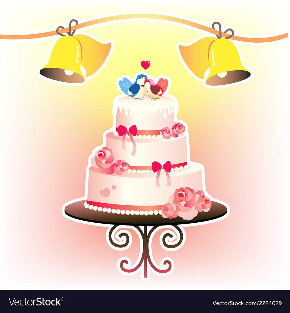Wedding cakevec vector | Price: 1 Credit (USD $1)