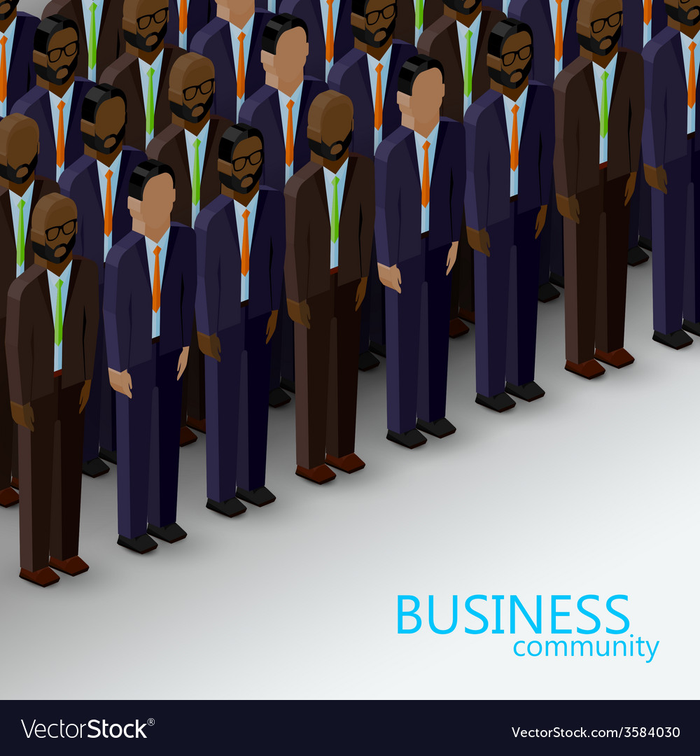 3d isometric of business or politics community a vector | Price: 1 Credit (USD $1)