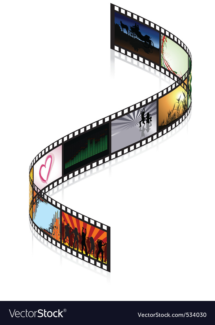 Colored filmstrip vector | Price: 1 Credit (USD $1)