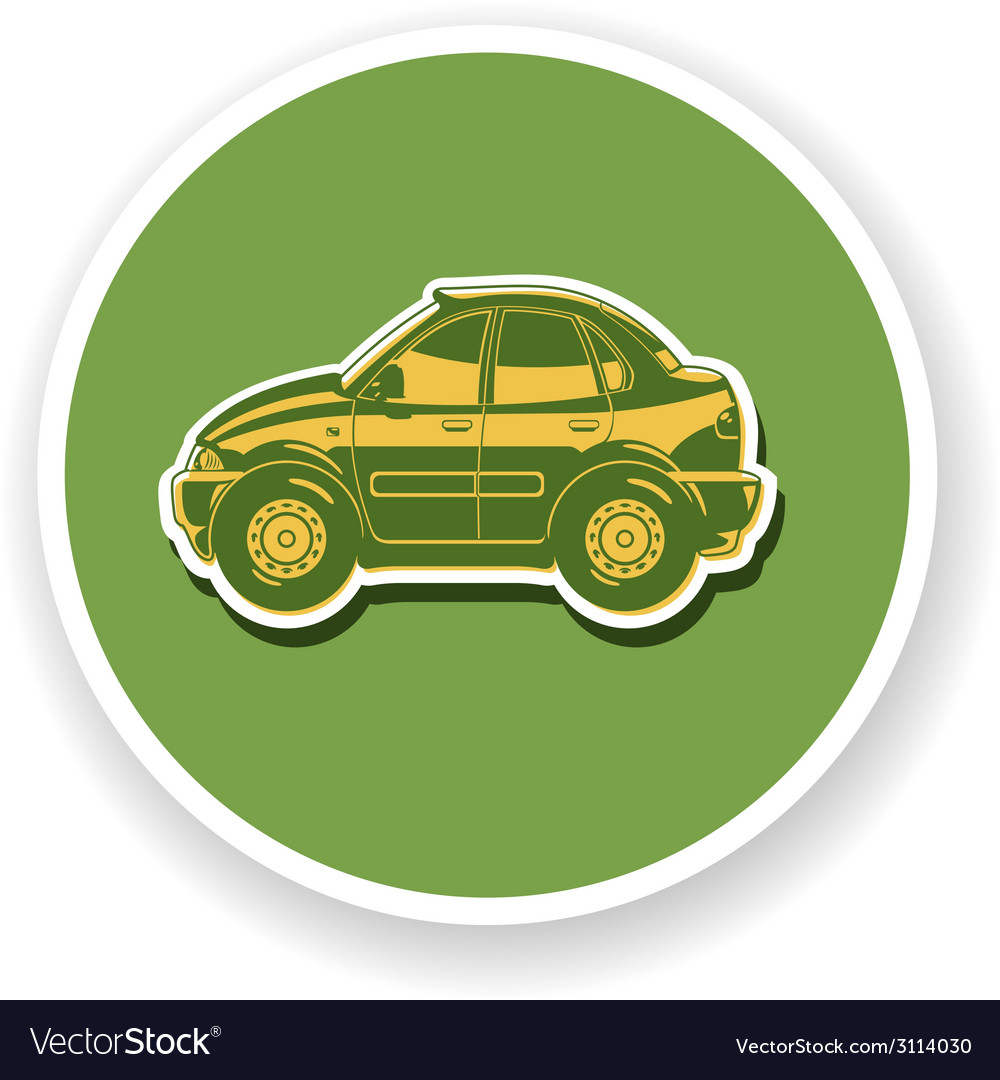 Flat of sedan vector | Price: 1 Credit (USD $1)