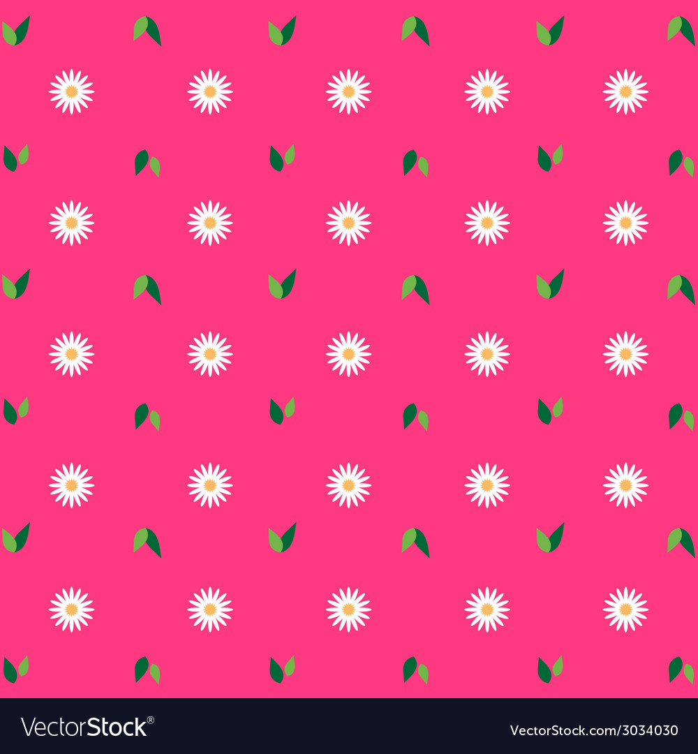 Flower pattern pink background vector | Price: 1 Credit (USD $1)