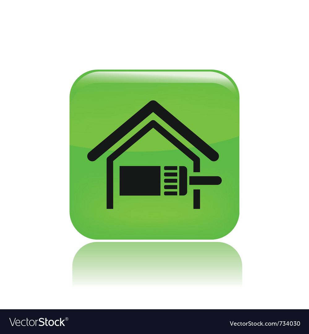 Home paint icon vector | Price: 1 Credit (USD $1)