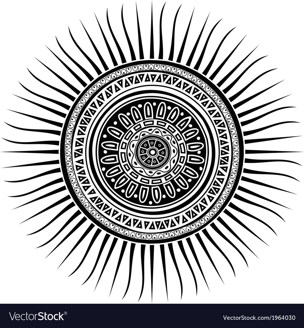 Mayan sun symbol vector | Price: 1 Credit (USD $1)
