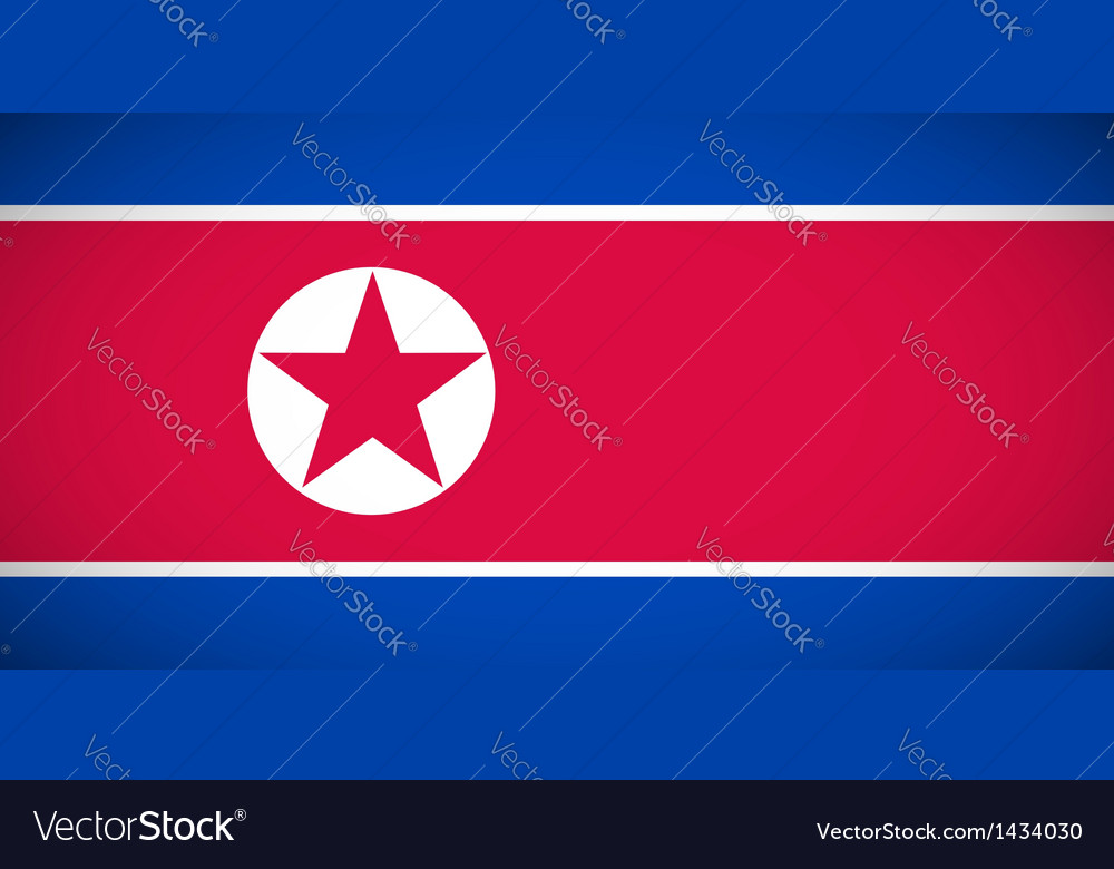 National flag of north korea vector   Price: 1 Credit (USD $1)