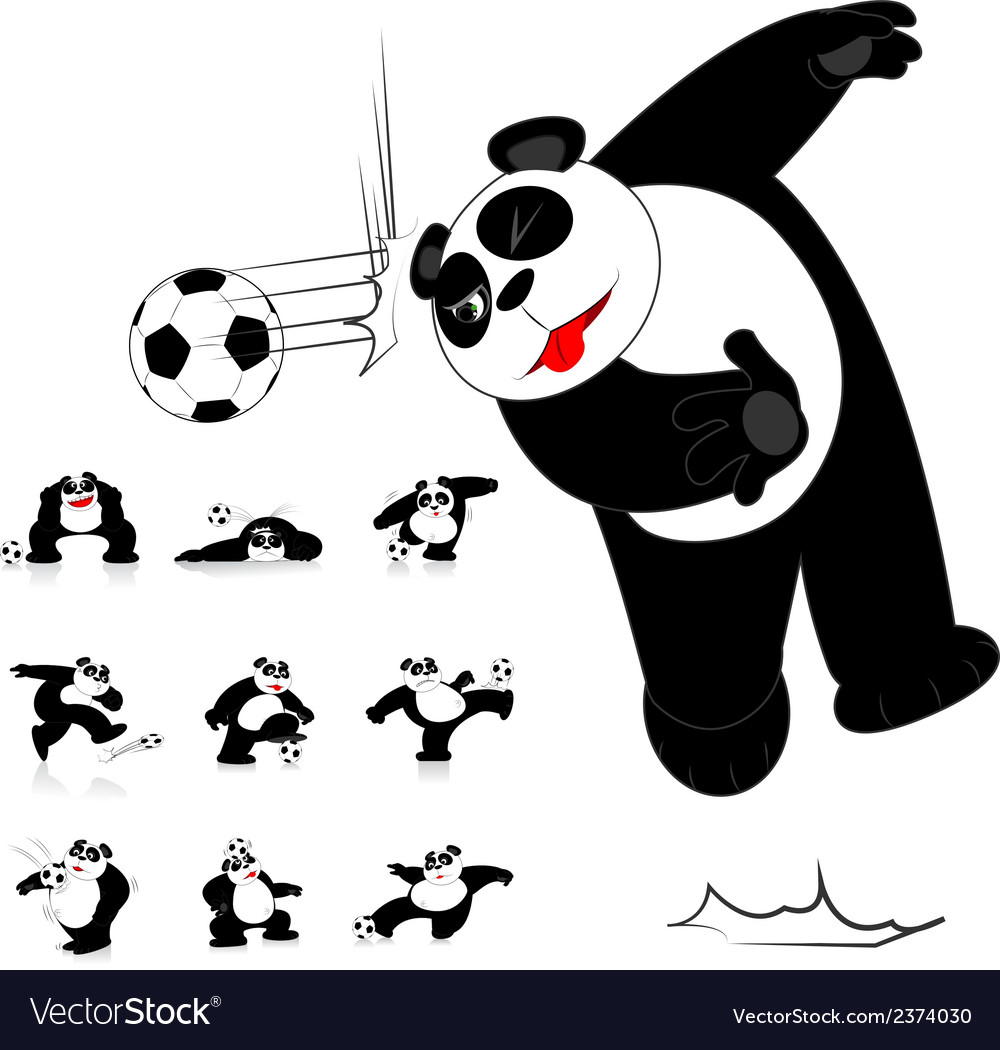 Panda soccer style vector | Price: 1 Credit (USD $1)