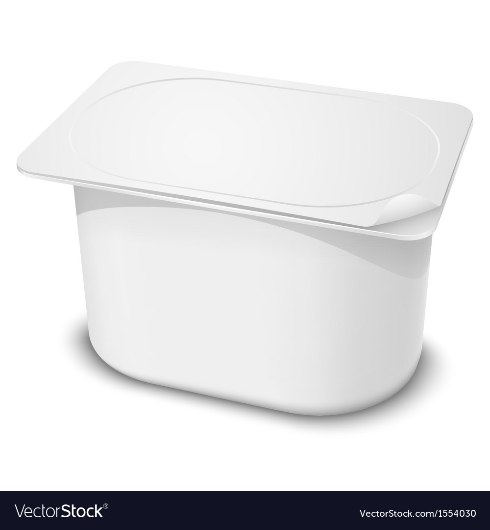 Plastic container vector | Price: 1 Credit (USD $1)