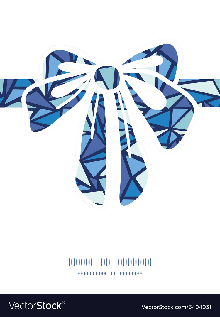 Abstract ice chrystals gift bow silhouette pattern vector | Price: 1 Credit (USD $1)