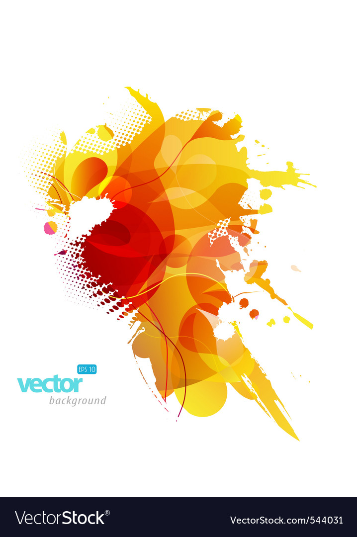 Colorful splash vector | Price: 1 Credit (USD $1)