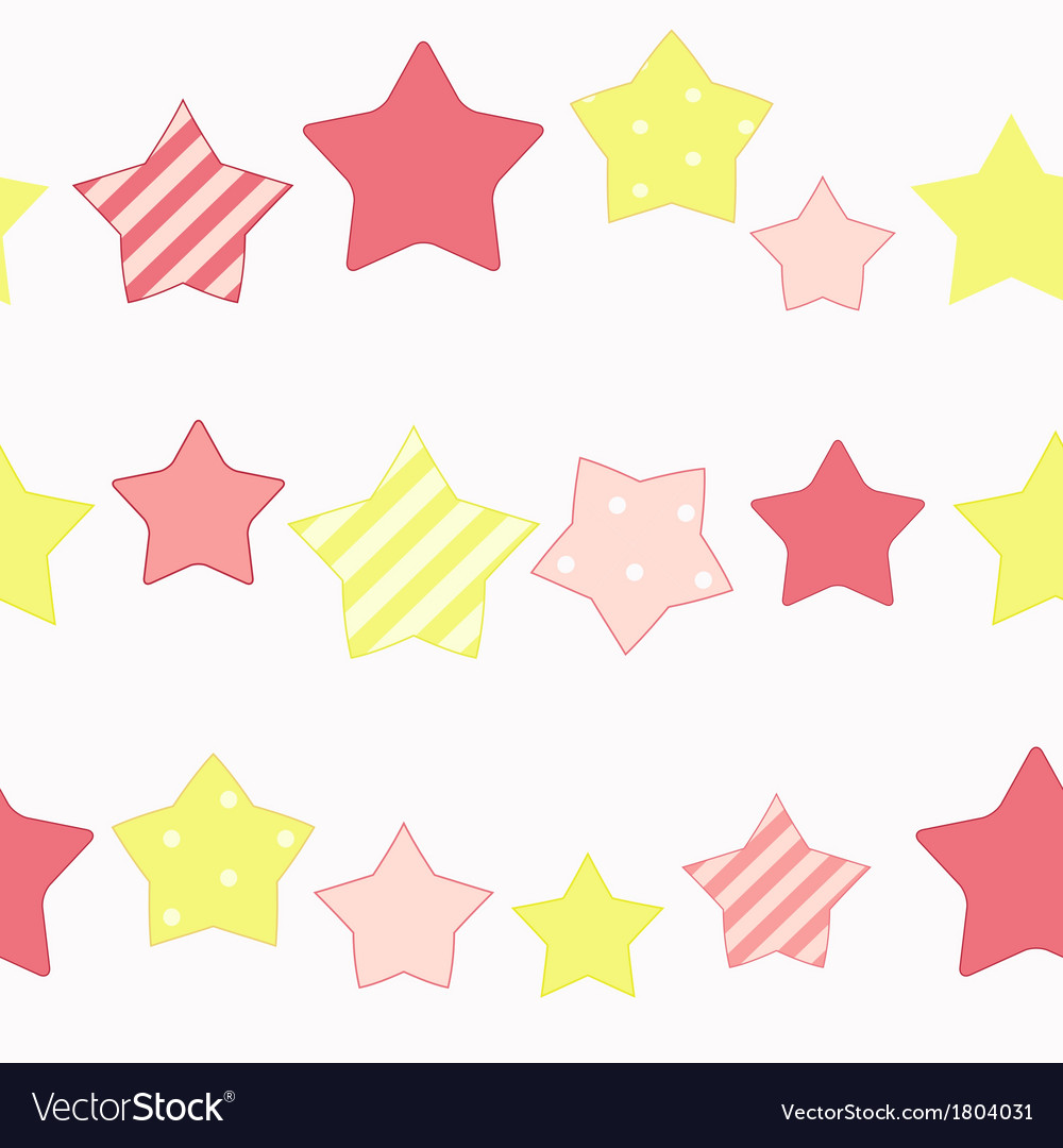 Cute star seamless pattern background vector | Price: 1 Credit (USD $1)