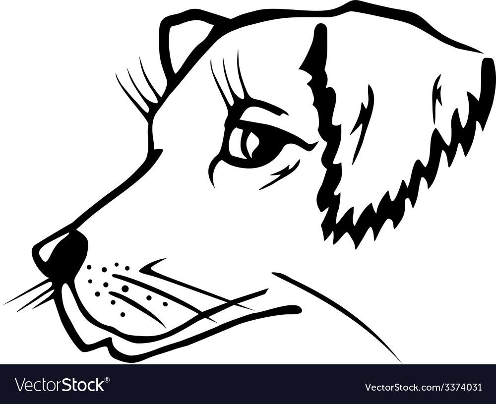 Dog head vector   Price: 1 Credit (USD $1)