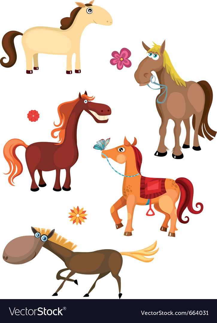 Horse set vector | Price: 3 Credit (USD $3)