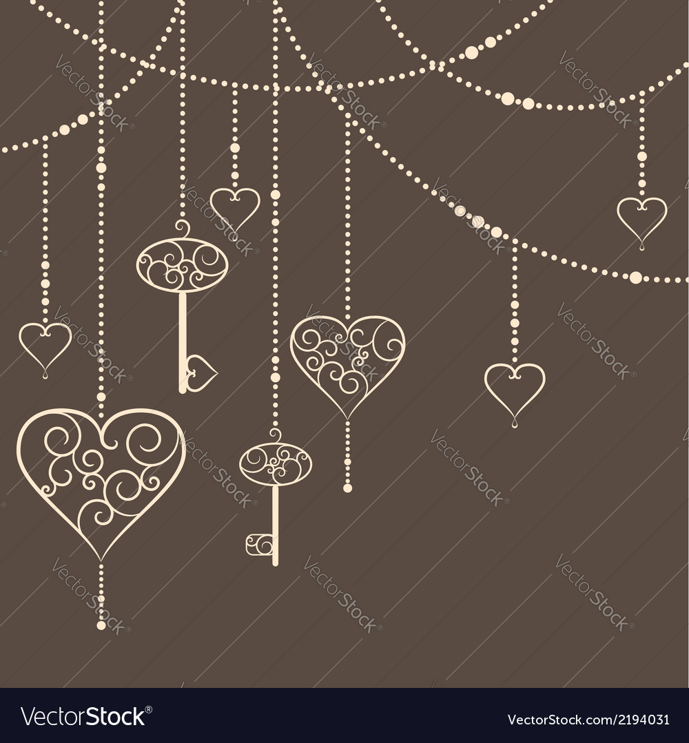 Key to heart vector
