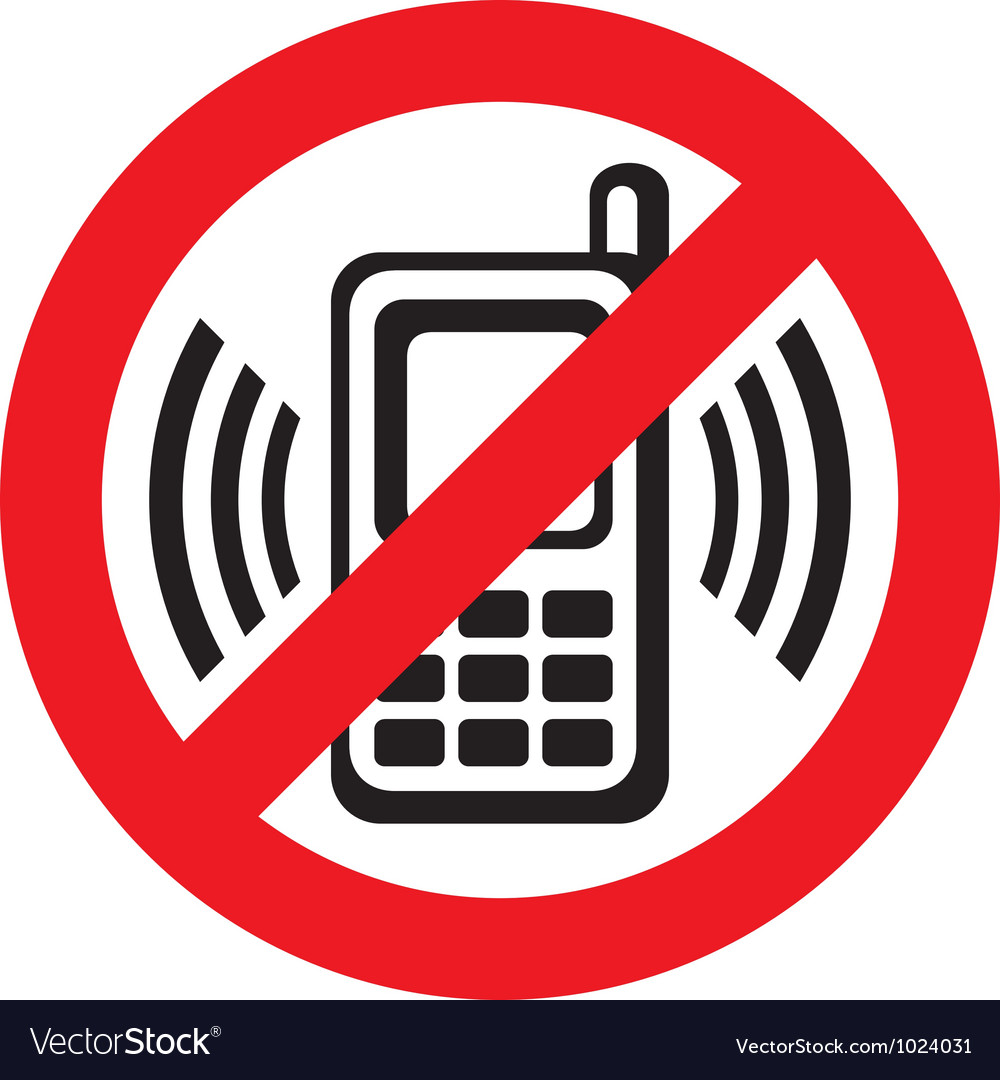 No cell phone sign vector | Price: 1 Credit (USD $1)