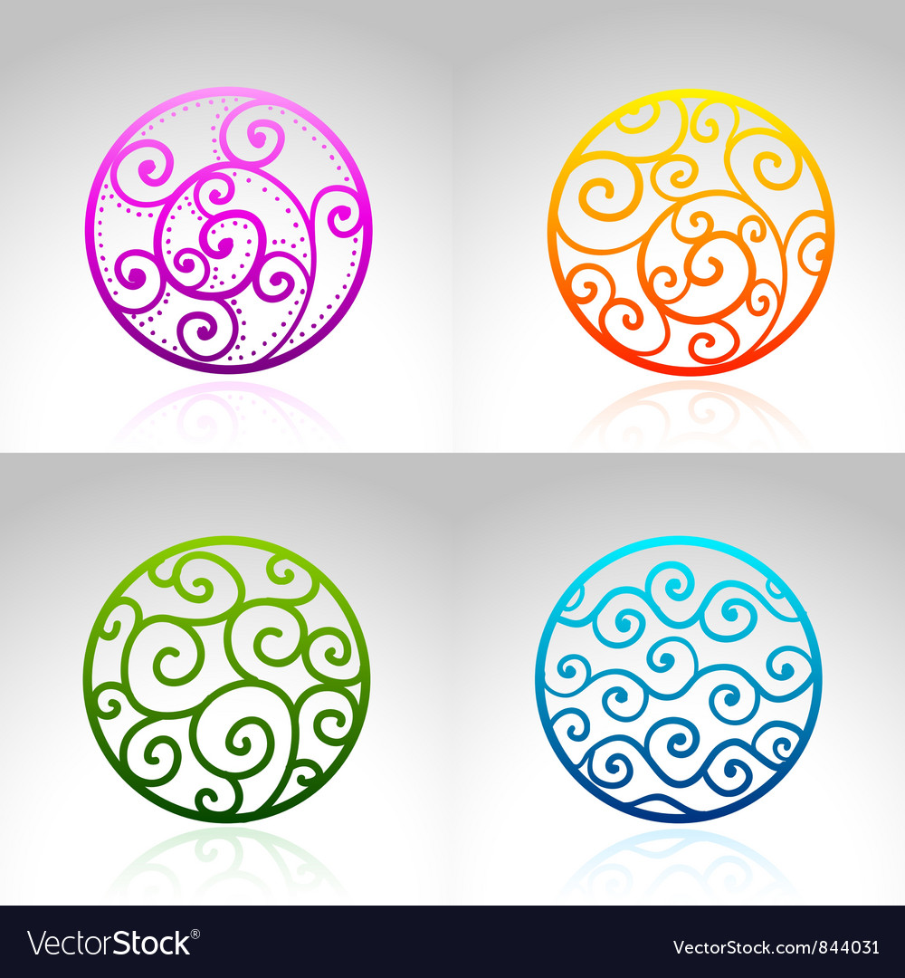 Ornamental circles vector | Price: 1 Credit (USD $1)