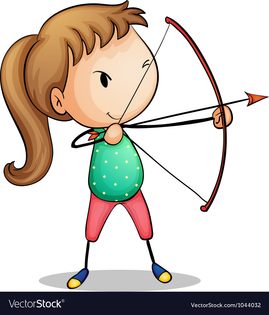 Archer girl vector | Price: 1 Credit (USD $1)