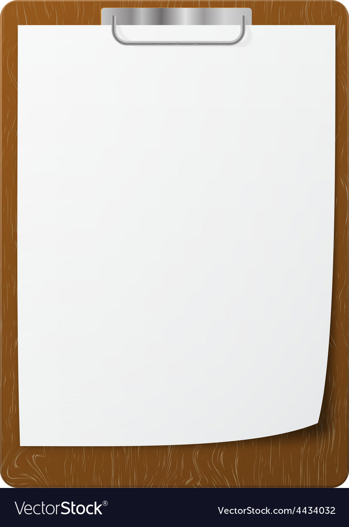 Blank white page clip vector | Price: 1 Credit (USD $1)