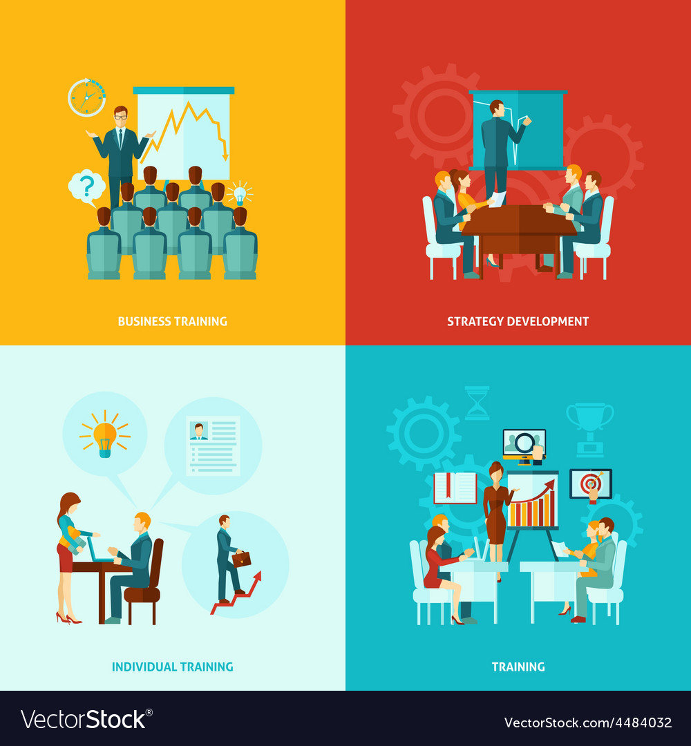 Business training flat vector   Price: 1 Credit (USD $1)