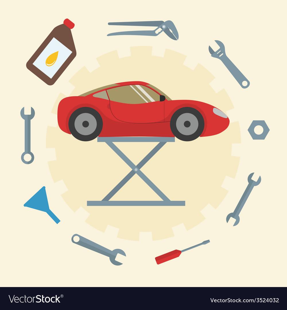 Car repair service icons vector | Price: 1 Credit (USD $1)