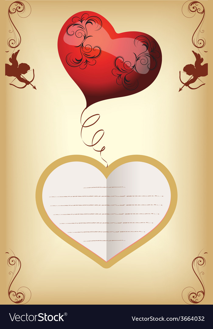 Card for lovers of vintage vector | Price: 1 Credit (USD $1)
