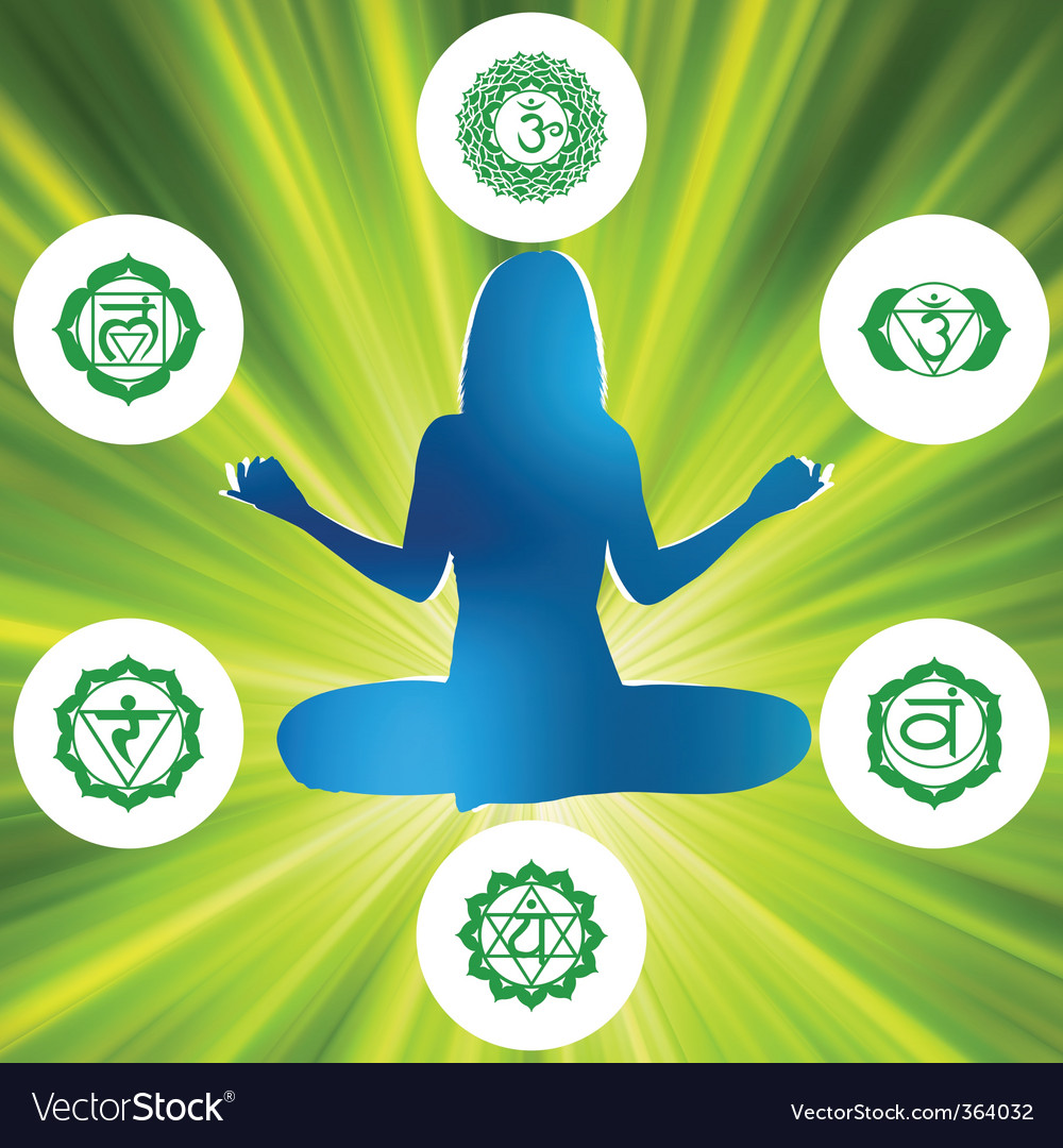 Chakras and spirituality symbols vector | Price: 1 Credit (USD $1)