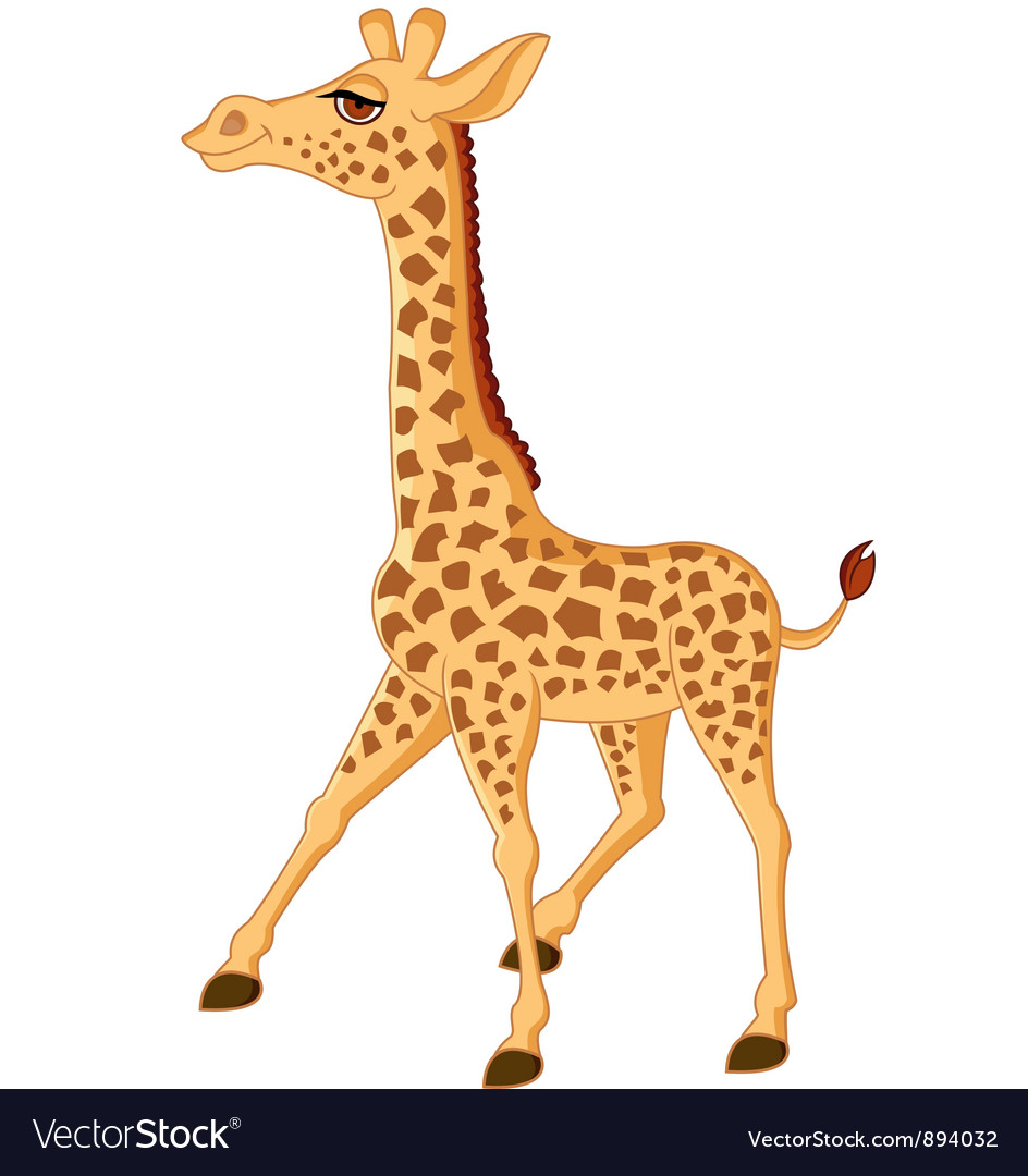Cute giraffe isolated vector | Price: 3 Credit (USD $3)