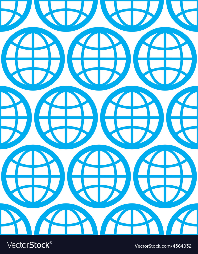 Globes seamless background planets conceptual vector | Price: 1 Credit (USD $1)