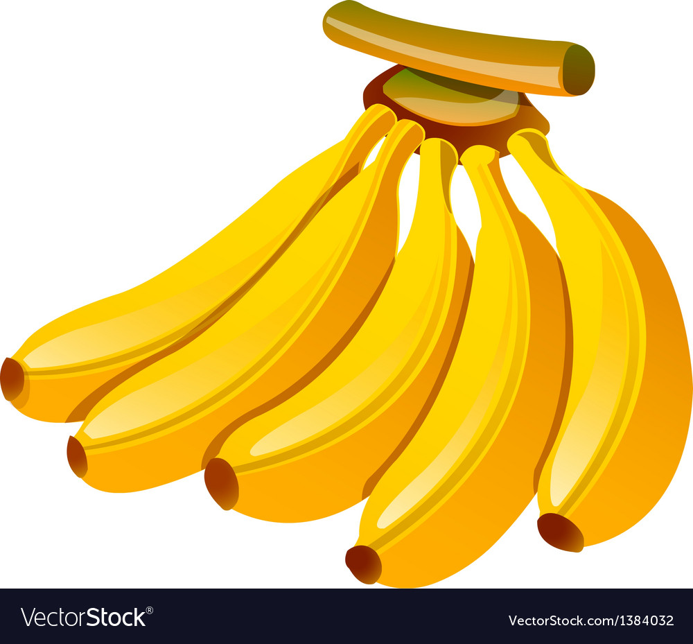 Icon banana vector