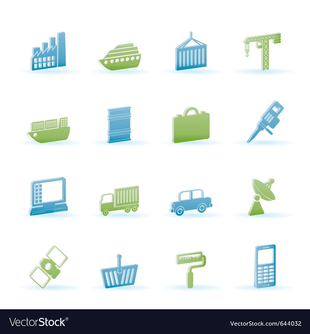 Industry and business icons vector   Price: 1 Credit (USD $1)