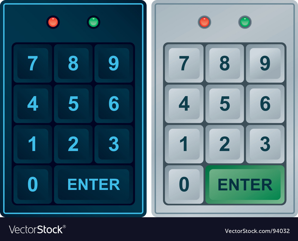 Keypad entry vector | Price: 1 Credit (USD $1)