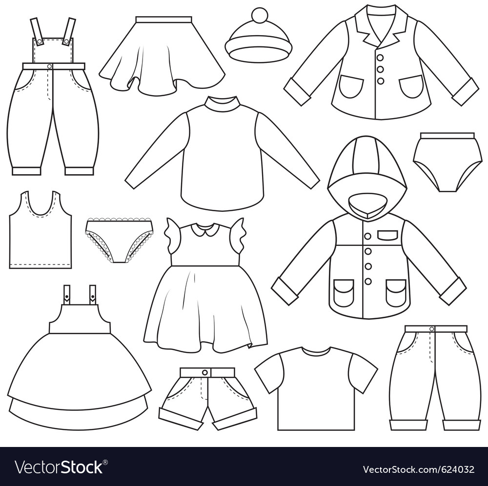 Kids clothing vector | Price: 1 Credit (USD $1)