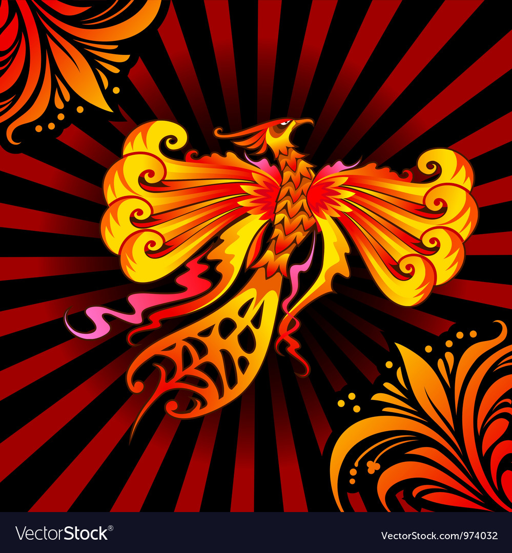 Phoenix bird vector | Price: 3 Credit (USD $3)