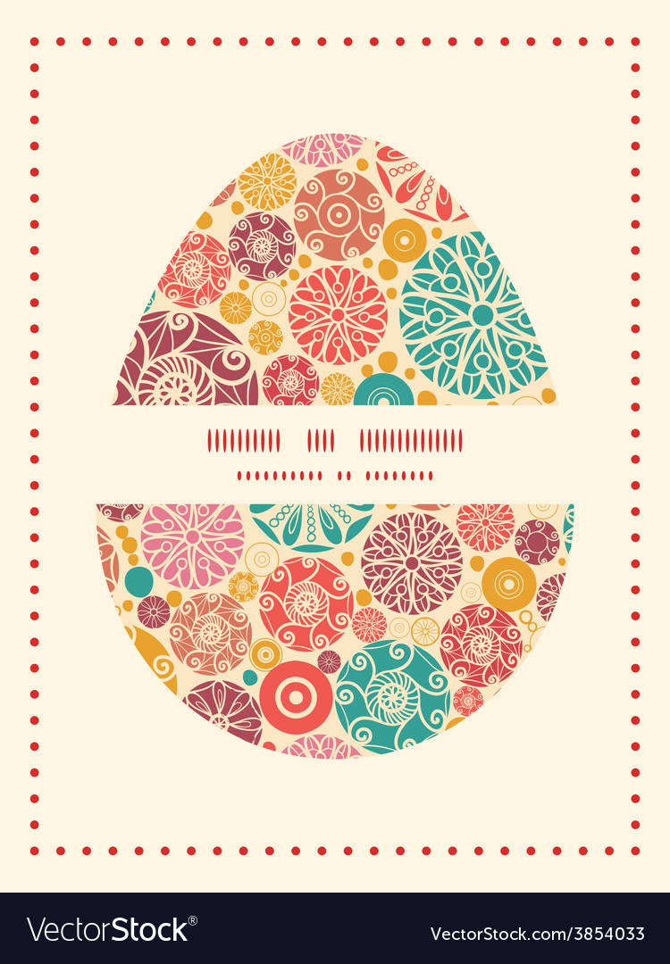 Abstract decorative circles easter egg vector   Price: 1 Credit (USD $1)