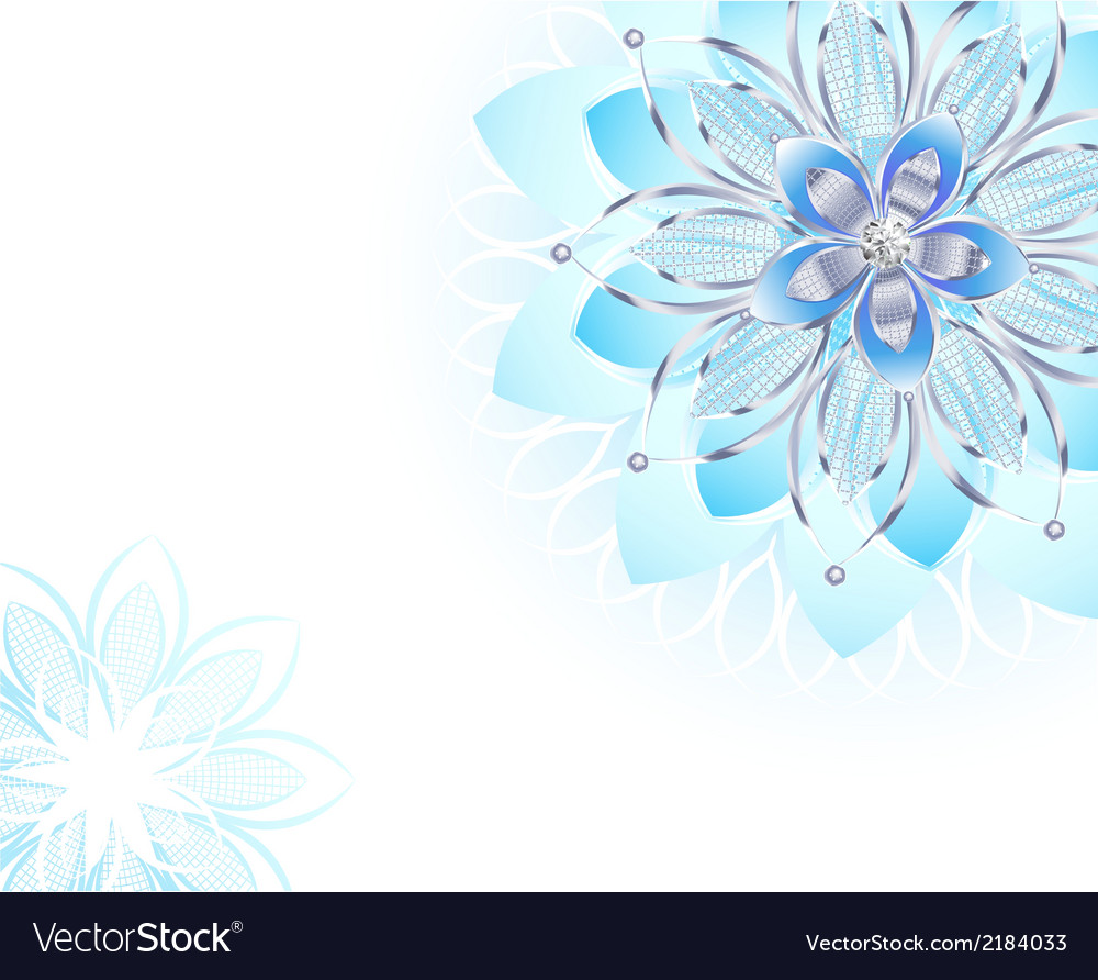 Abstract light blue flower vector | Price: 1 Credit (USD $1)