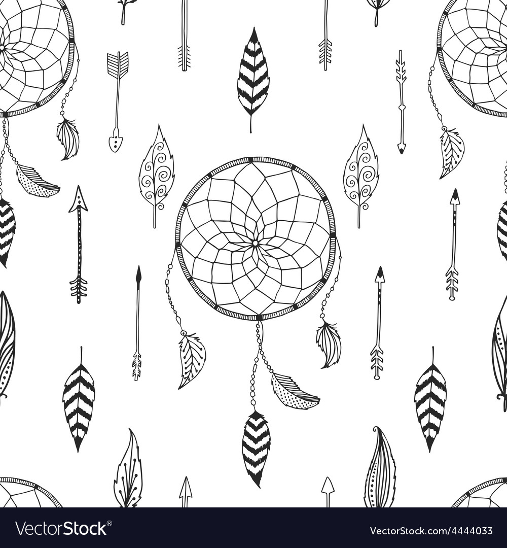 Arrow background retro pattern etnic doodle vector | Price: 1 Credit (USD $1)