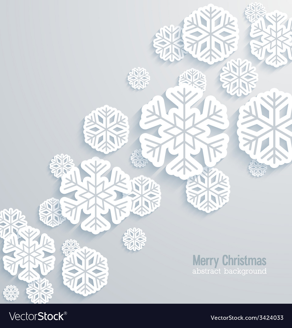 Christmas background with paper snowflakes vector | Price: 1 Credit (USD $1)