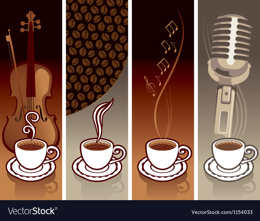 Coffee and music vector | Price: 1 Credit (USD $1)