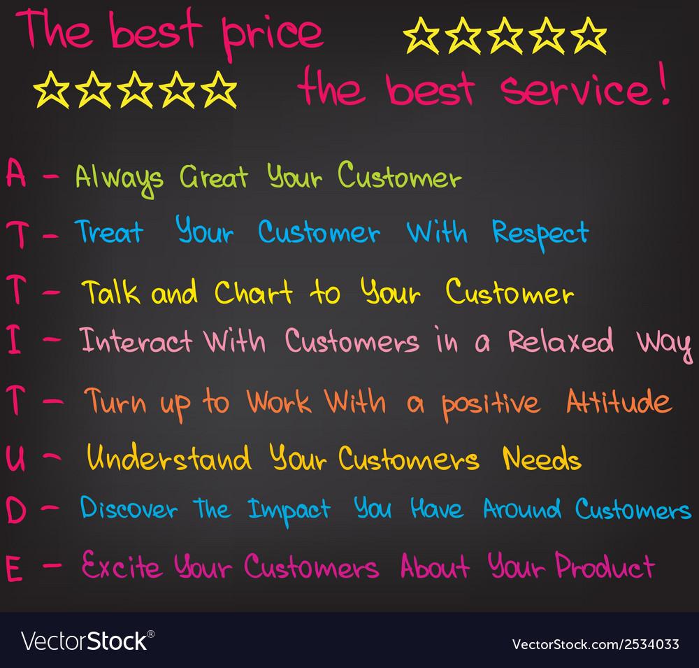 Customer service attitude vector | Price: 1 Credit (USD $1)