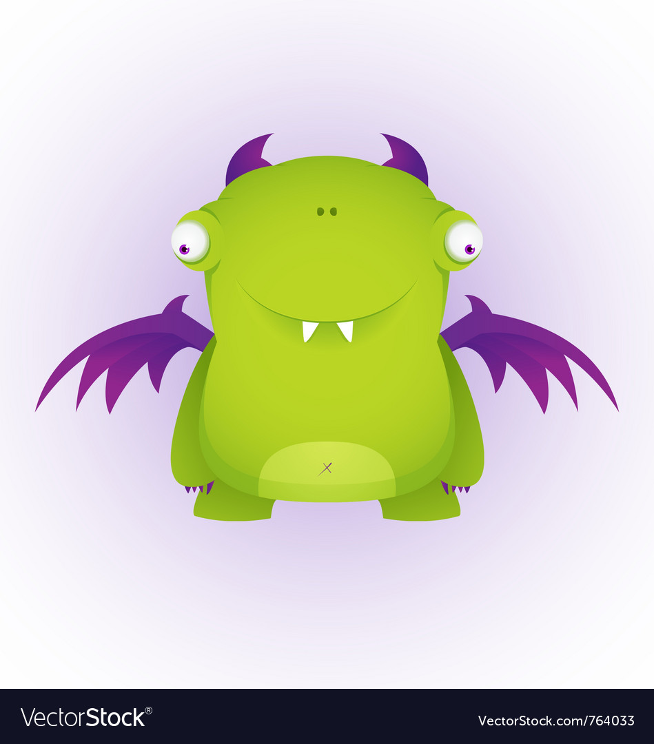 Cute cartoon monster vector | Price: 3 Credit (USD $3)