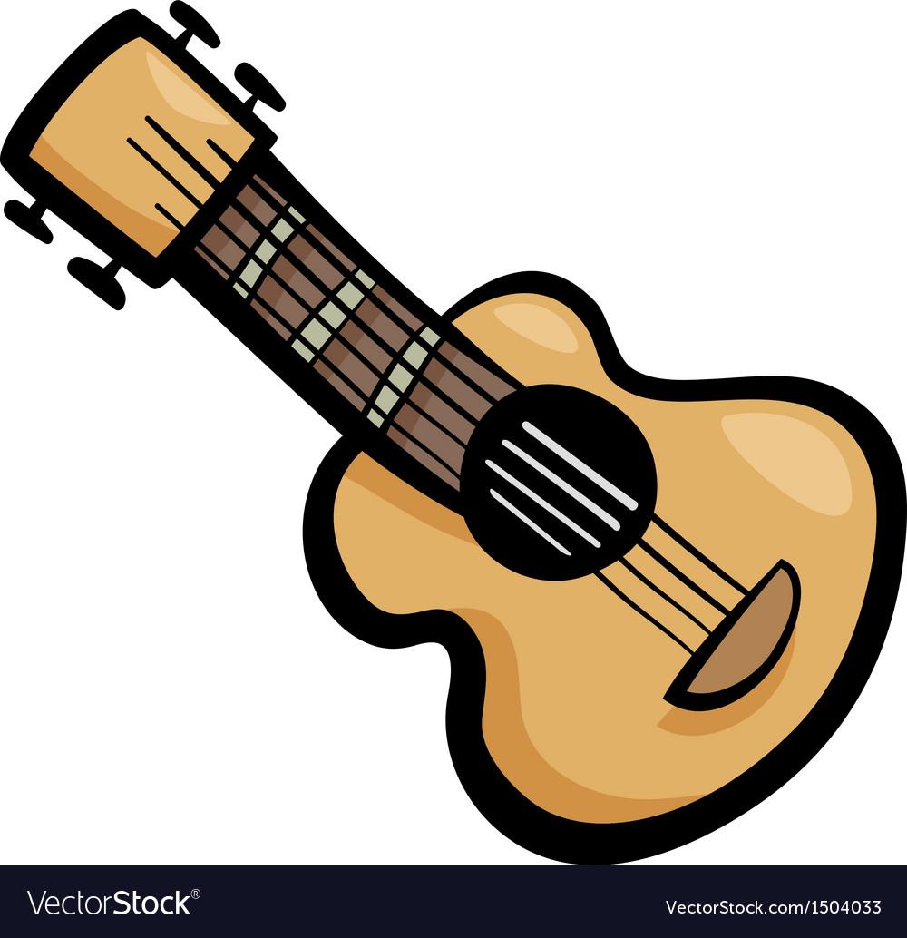 Guitar clip art cartoon vector | Price: 1 Credit (USD $1)