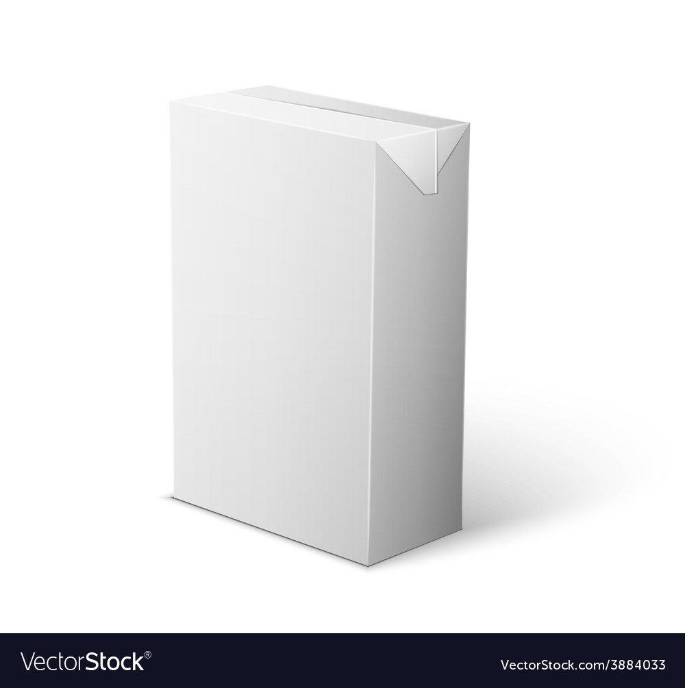 Milk juice beverages carton package blank white on vector | Price: 1 Credit (USD $1)