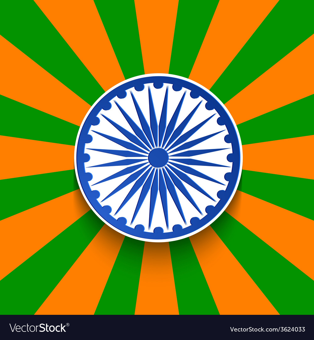 Modern indian republic day background vector | Price: 1 Credit (USD $1)