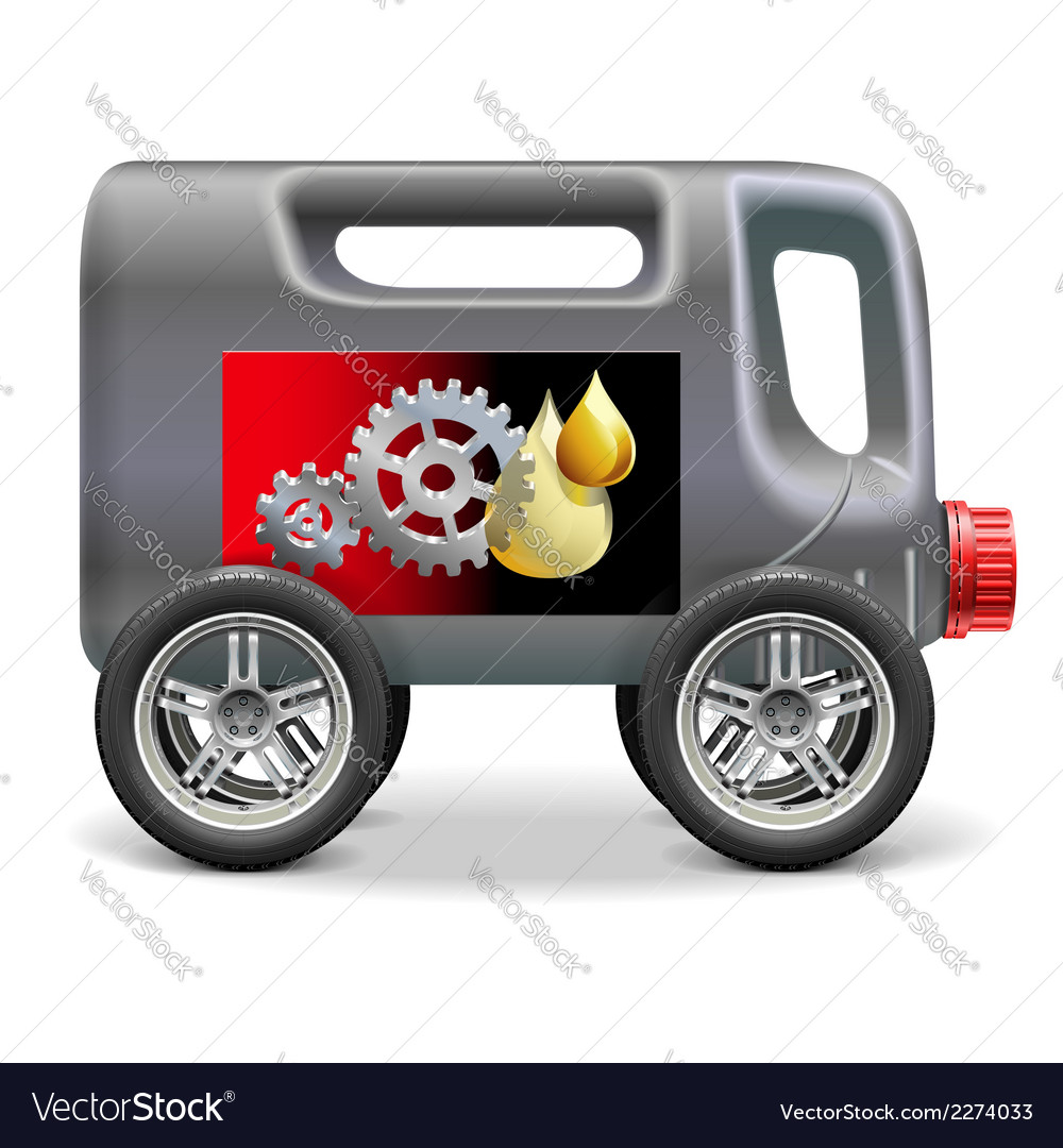 Motor oil on wheels vector | Price: 1 Credit (USD $1)