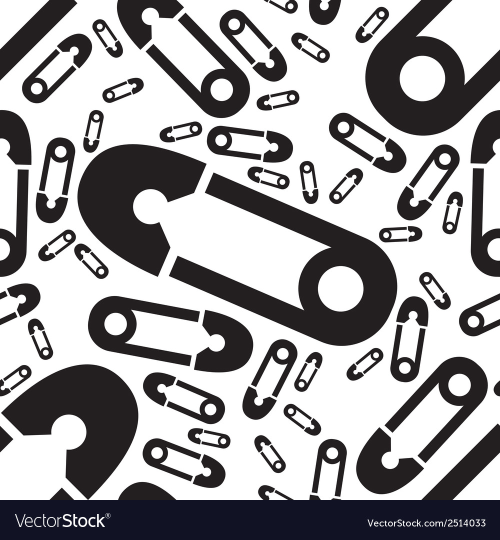 Safety pin seamless pattern vector | Price: 1 Credit (USD $1)