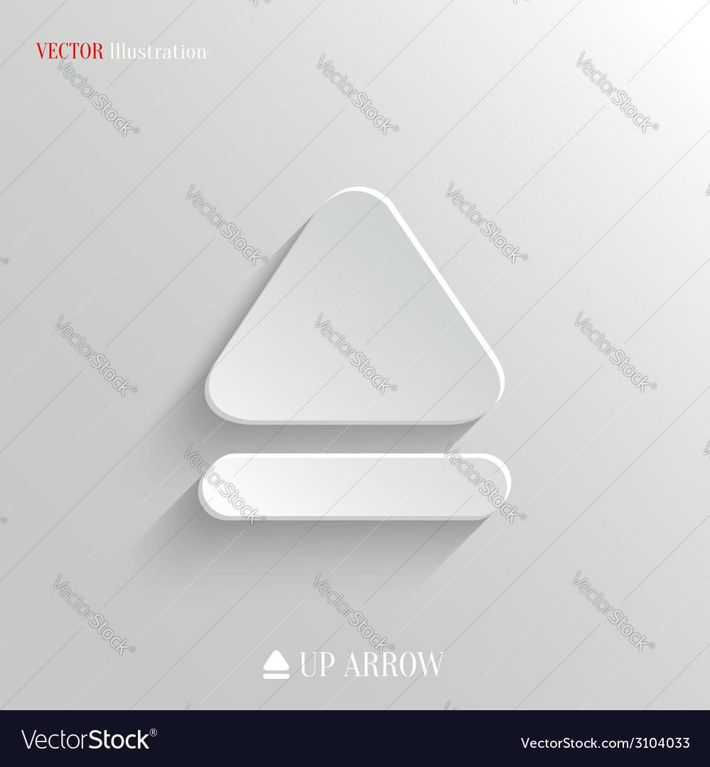 Up arrow icon - white app button vector | Price: 1 Credit (USD $1)