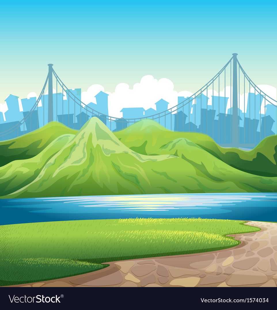 A lake near the mountains vector   Price: 3 Credit (USD $3)