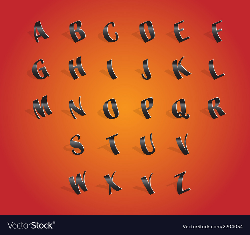 Alphabet font vector | Price: 1 Credit (USD $1)