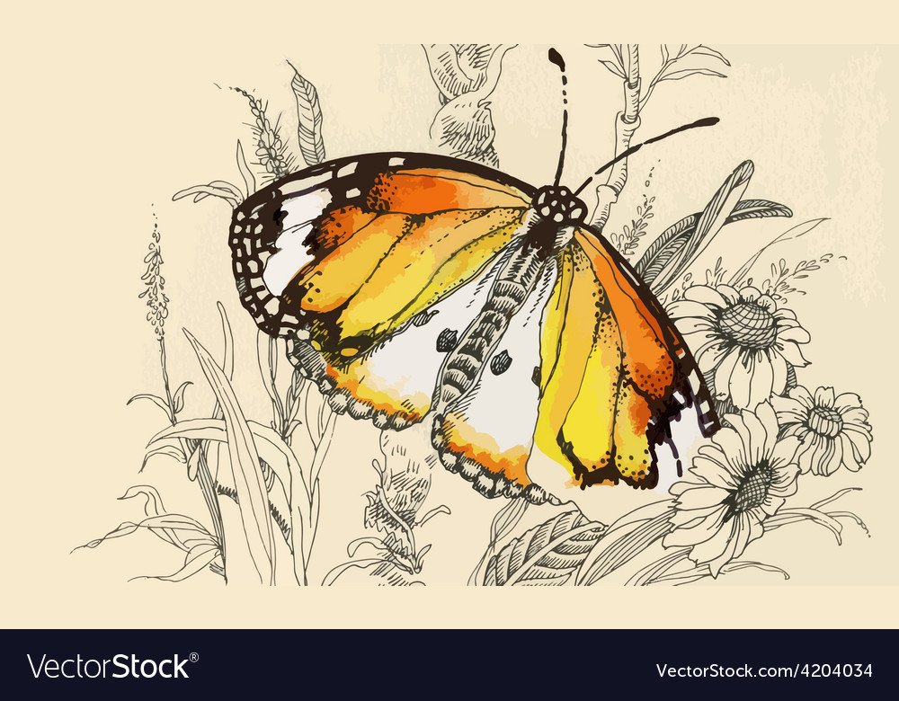 Artistic butterfly design vector | Price: 3 Credit (USD $3)